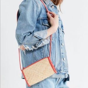 Urban Outfitters Small Straw Crossbody Purse